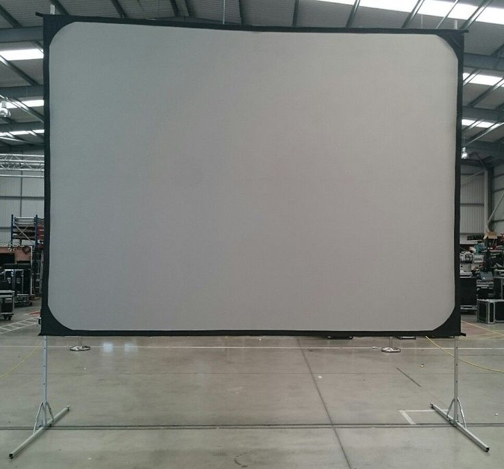 Screen Works 8x6  Fastfold Front and Rear Projection screen with Legs and Frame