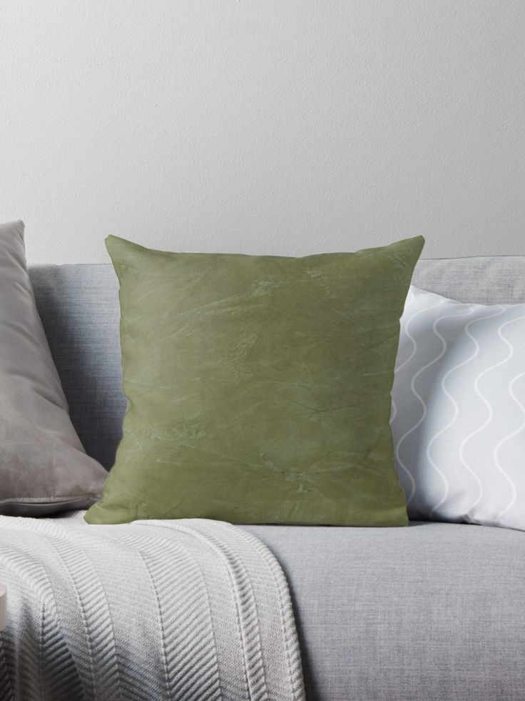Unique Throw Pillows - Tuscan Olive Green Venetian Plaster. Burnished Venetian Plaster creates a beautiful variation of green tones with a translucent effect. • Also buy this artwork on home decor, apparel, phone cases, and more.