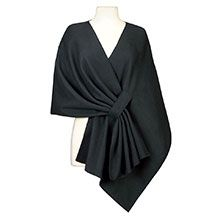 This cozy, cover-up stays comfortably in place and looks fabulous. Soft, supple polyester fleece with pill-resistant finish. Machine wash. Imported. One size fits most.   Approx. 20l in back; approx. 29l in front  Flat measurement - neckline is 68 from end to end; outside bottom edge measures 94l from edge to edge.