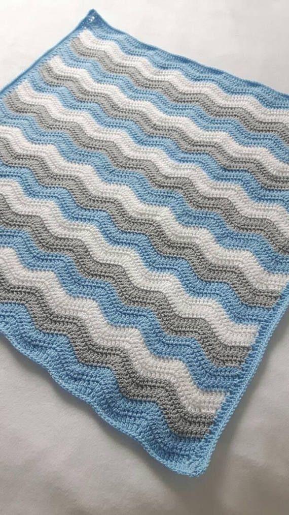 Crochet Blue Baby Blanket Crochet Blankets For Sale Baby Shower