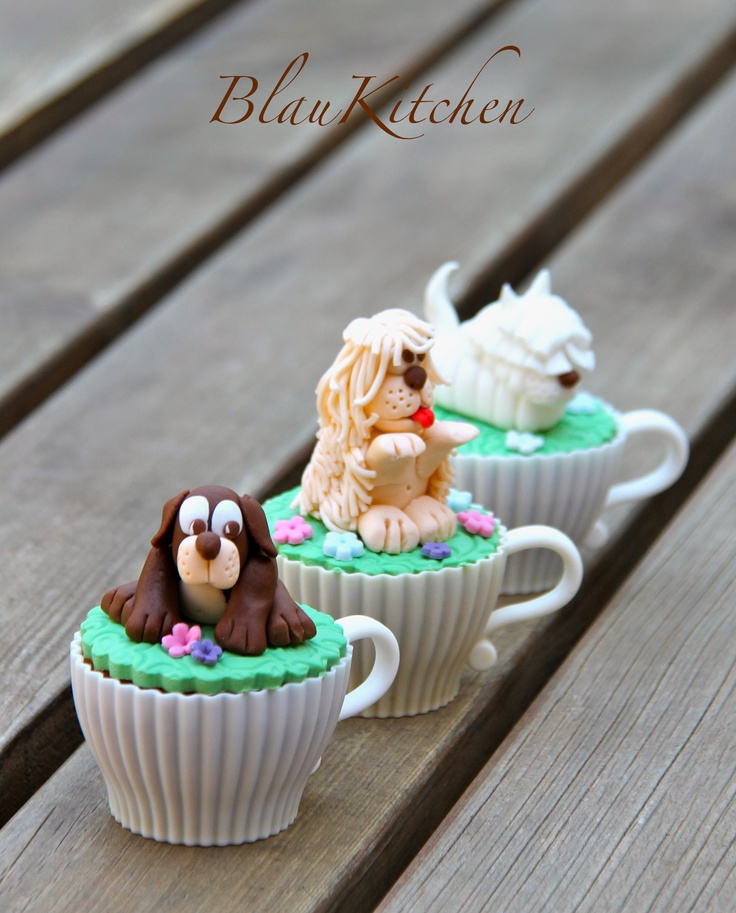 Cupcakes little dogs