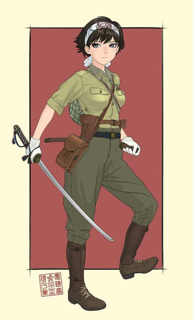 Japanese Army Anime Military Girl Anime Military Military