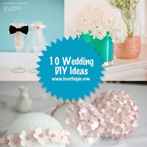 10 Wedding DIY Ideas