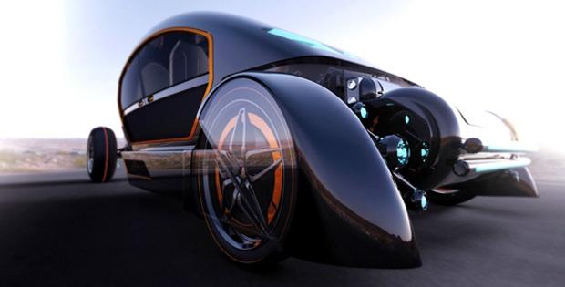 Conceito de veículo futurista traz tenda embutida para os aventureiros