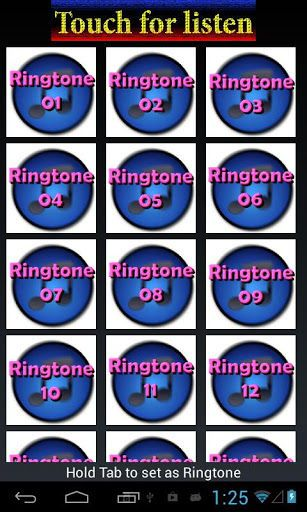 """Funny Ringtone For Free<br>Create your ringtone,alarm,or notification sound from an existing audio file.<br>You can get any ringtone you want by yourselves.<br>Do not miss this app everyone can get it for free.<br>If you like these apps would vote five stars.<br>Thank you for your attention<br>Do not use the Internet to play<br>Features:<br>Open Apps Funny Ringtone For Free<br>Select image to listen<br>Hold tab image to make ringtone<br>Save to your mobile """"Yes""""<br>Keyword: ringtones , best…"""