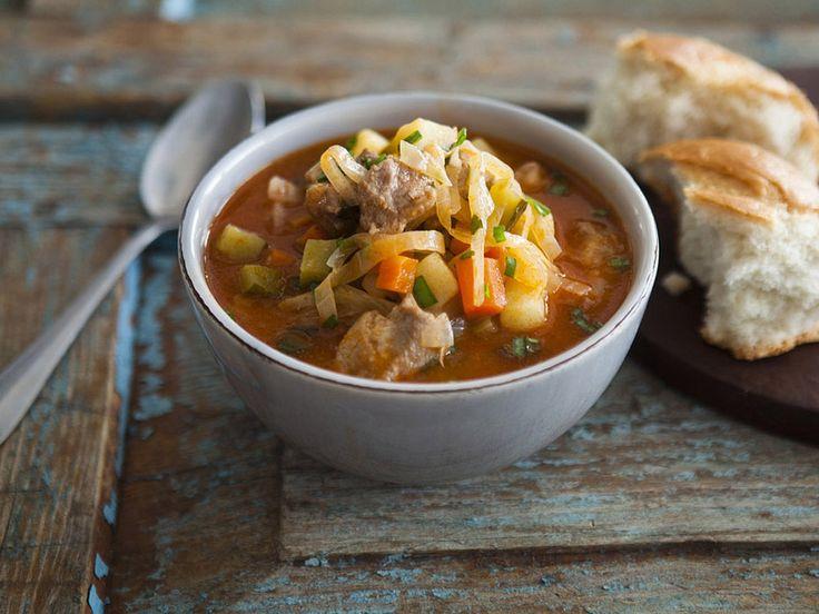 Рецепт: Густой овощной суп в мультиварке