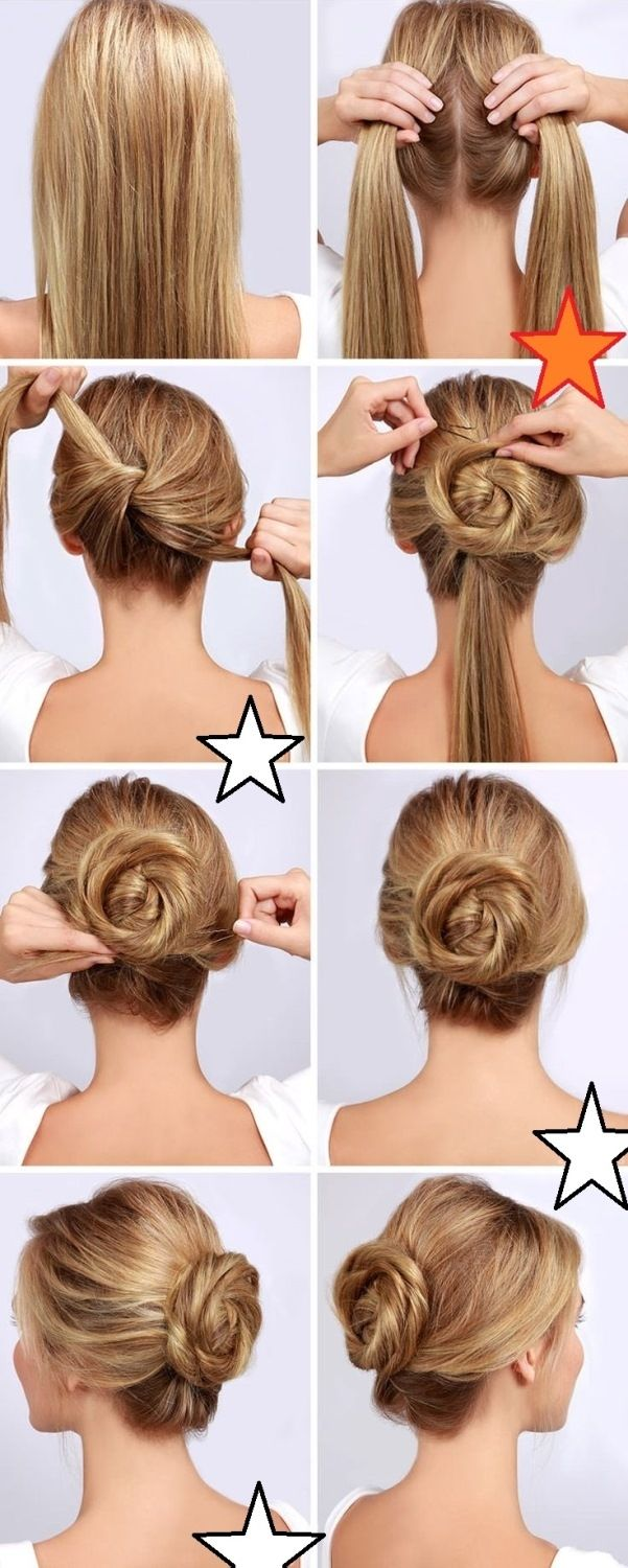 How to get twisted hair bun? Just follow the steps given in image and get your very easy hair bun.