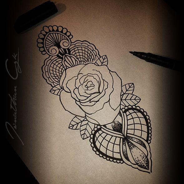 tatouage rose epaule mandala. Black Bedroom Furniture Sets. Home Design Ideas