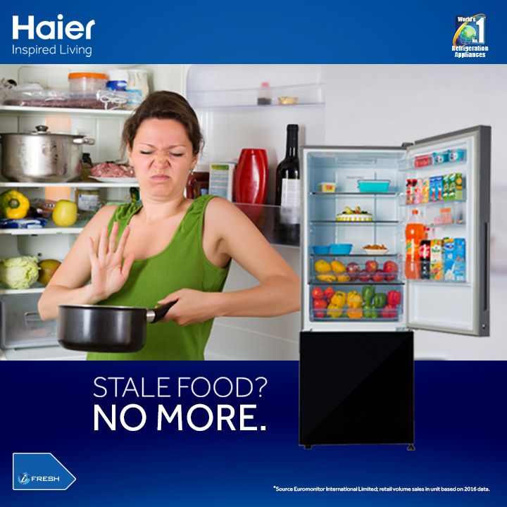 Haier BMR: With better in-ref visibility, say goodbye to 30% food wastage from your conventional #refrigerator! #HaierIndia #Technology #Appliances #InspiredLiving #Innovation #Fridge #Refrigerators #Haier