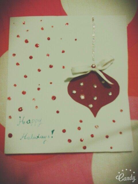 [Photo number 1] diy christmas card.