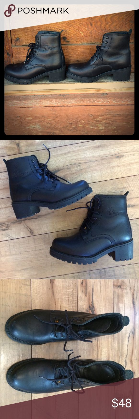 Havana Joe Lace up boots Only worn a couple times. Leather upper and lining. Made in Spain. 2 inch heel. Havana Joe Shoes Lace Up Boots
