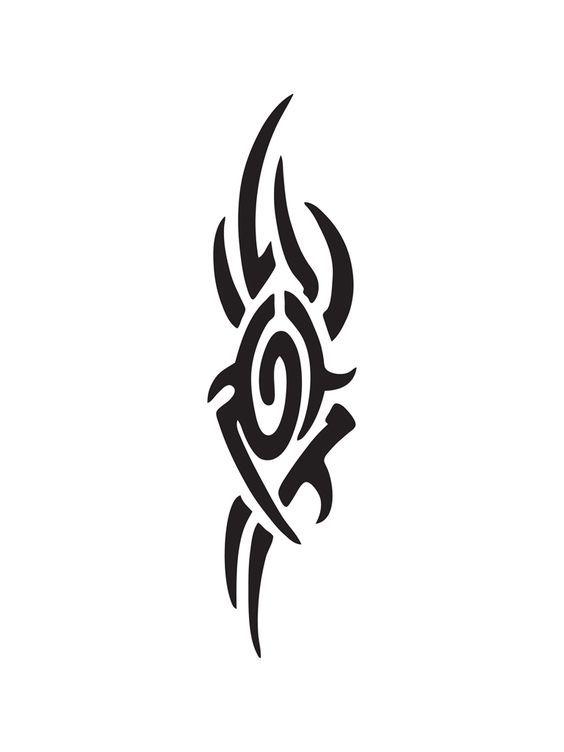 Again Tribal Tattoo Stencil - Tattoo Ideas