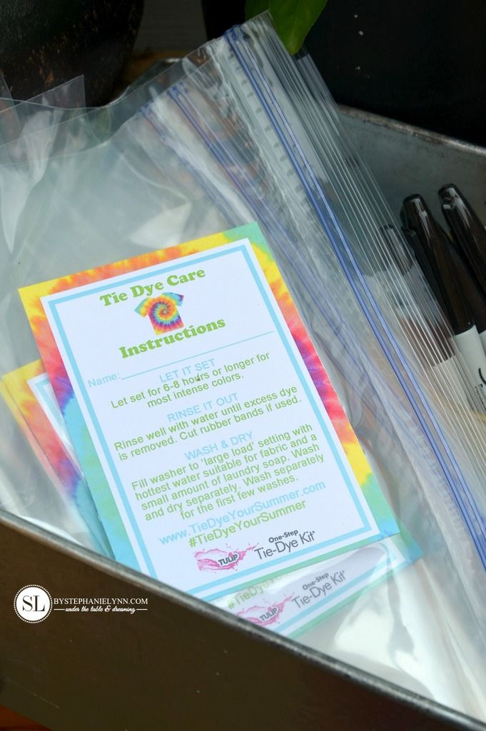 Printable Tie Dye Care Instructions Tie Dye Party #tiedyeyoursummer #michaelsmakers
