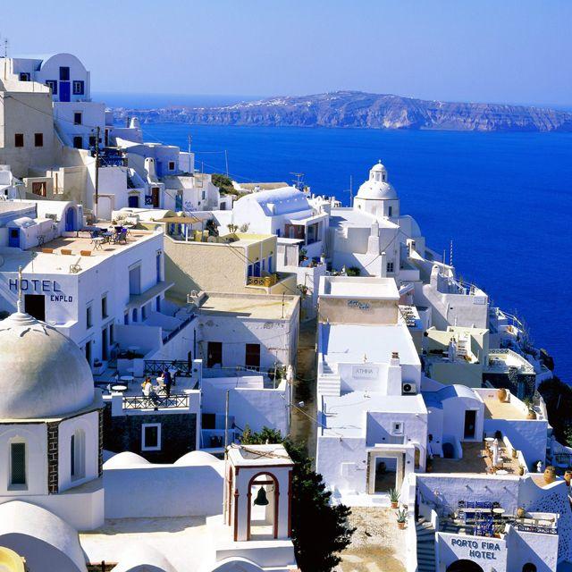 Fira Village @ Santorini, Greece: One Day, Santorini Greece, Buckets Lists, Favorite Places, Dreams Vacations, Beautiful Places, Places I D, Greek Islands, Greek Isle