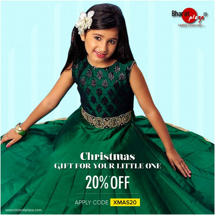 Simplicity, a synonym for elegance.Gift your little one a memorable outfit this Christmas: http://bit.ly/2hC1BdU  #BharatPlaza #Christmas #kidsfashion #fashion #shopping #onlineshopping #elegance #girlsfashion #discount #offer