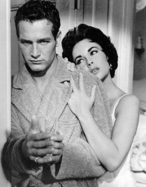 Cat on a Hot Tin Roof - Paul Newman, Liz Taylor: Paul Newman, Cats, Elizabeth Taylor, Tins, Paulnewman, Movie, Taylors