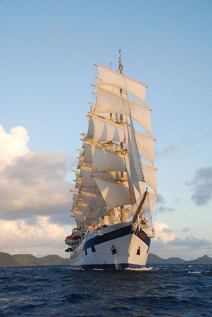 Royal Clipper at sunset by helenandnick, via Flickr