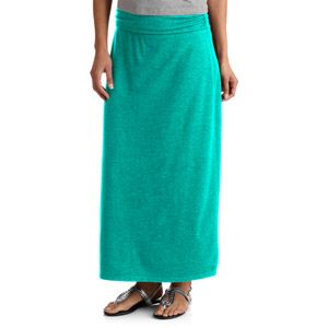Aqua maxi skirt from Walmart. $13.00. I had to take in the sides a bit for a more streamlined  silhouette ...