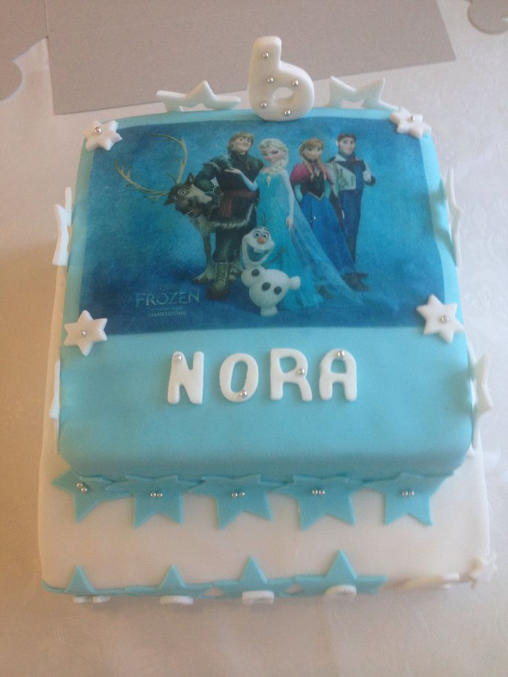 Square Frozen Elsa Cake Aaliyah Elsa Cakes Cake Elsa
