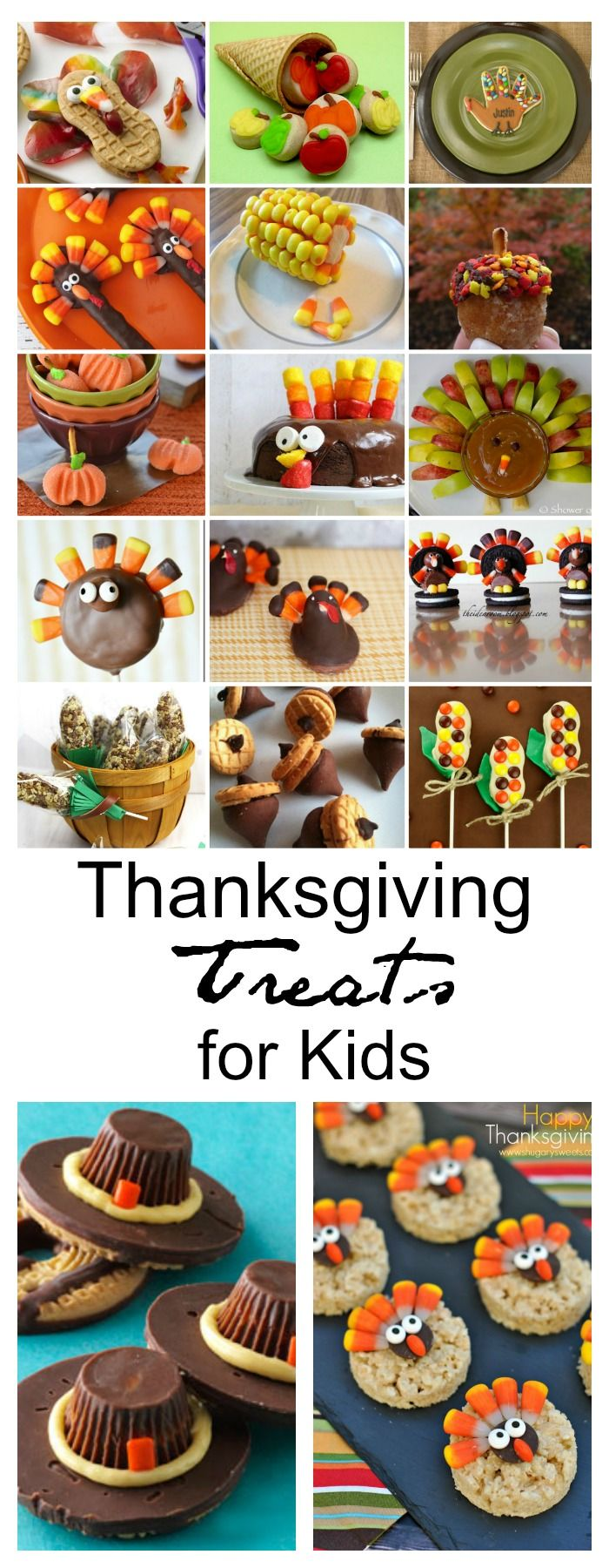 Food faith amp design thanksgiving goodies - Thanksgiving Treats For Kids
