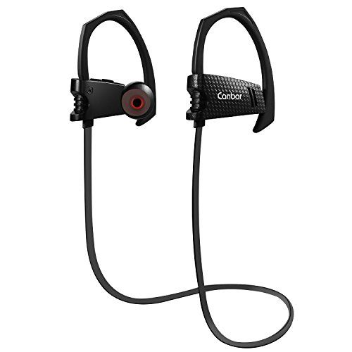 Canbor Bluetooth Headphones 4.1 Wireless Earbuds with Mic Sport Stereo Headset Noise Cancelling Neckband IPX5 Sweatproof Earphones
