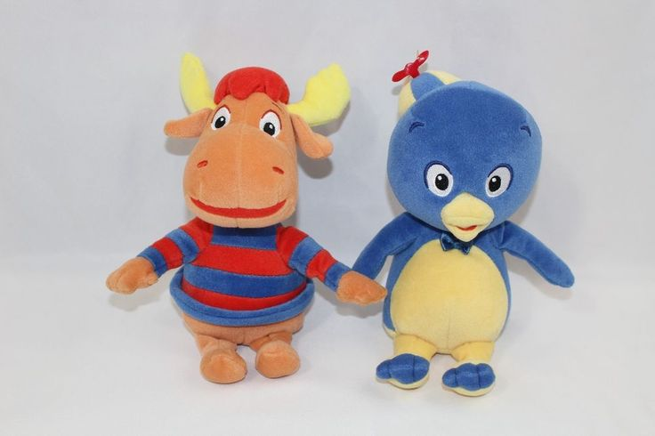 "TY Backyardigans Tyrone and Pablo Nick Jr. 8"" 2004 Beanbag Plush #Ty"