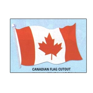"Canada Flag Cutout (Printed 2 sides) 18"""