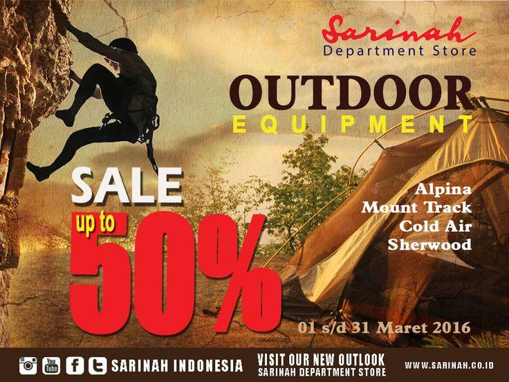 mampir yuuuk ke Sarinah Department Store, dapatkan koleksi perlengkapan outdoor dan pakaian hangat