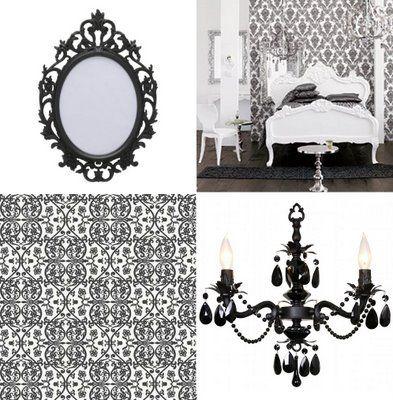 Vintage Clothing Blog | Vintage Wedding Dress | Salvage Life: Black and White Room Inspiration