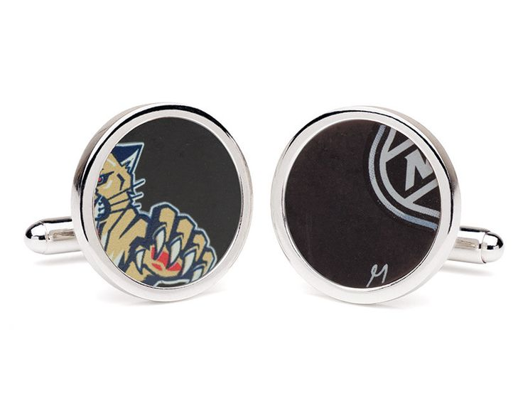 Florida Panthers Game Used Puck Round Cuff Links