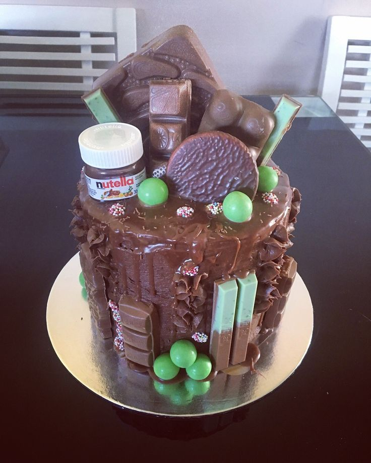 Choc overload! Chocolate drip cake with lots of chocolate on board