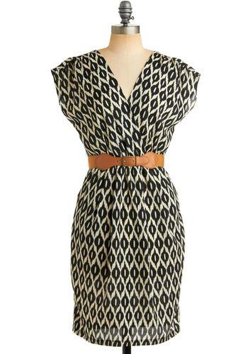 One Cool Ikat Dress