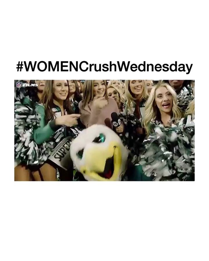 SHABOOYA SHA SHA SHABOOYA ROLL CALL!! My name is Angie (yeah!) Nickname is Trouble (yeah!) ....thats all I got clearly Im not cheerleader material Whatever these ladies rock. Oh and were still SUPER BOWL CHAMPS  #WOMENCrushWednesday #WCW #PhiladelphiaEaglesCheerleaders #ShabooyaRollCall #PhiladelphiaEagles #FlyEaglesFly #SuperBowlChampions #BleedGreen #EaglesNation #WeAllWeGotWeAllWeNeed