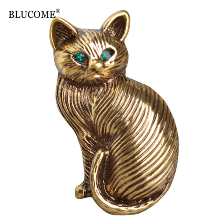 Blucome Cute Green Crystal Eyes Cat Brooches For Women Kids Collar Hats Cartoon Pet Brooch Suit Lapel Pins Vintage Broche Mujer-in Brooches from Jewelry & Accessories on Aliexpress.com | Alibaba Group