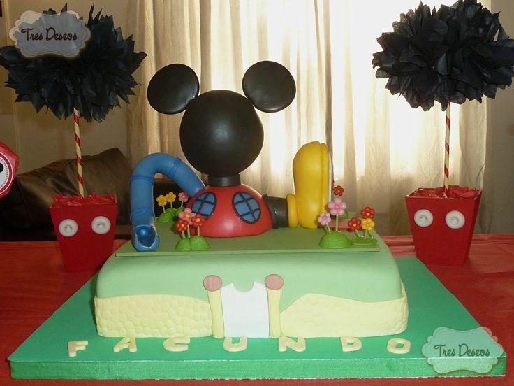 40 best images about tortas decoradas on pinterest - Casa de minnie mouse ...