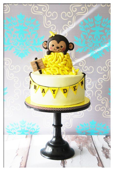 cute!: Monkey 1St, Monkey Birthday, Monkey Cakes, Cakes Recipes, First Birthday, 3Rd Birthday, 1St Birthday Cakes, Design Cakes, Birthday Ideas
