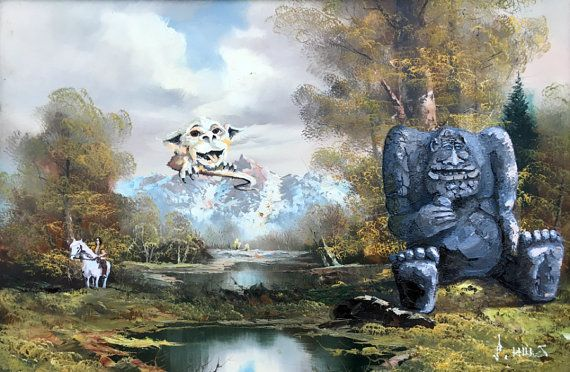 Epilogue This is a piece of old thrift art that Ive added parodies of Falkor, Artax, and Rock Biter from The NeverEnding Story to. Buying multiple prints or posters? A. Youre awesome. B. See the link below for reduced priced bundles. Choice of Seven Sizes: 1. Print: -Medium Size, Shown in Photo 2 -6 15/16 x 10 5/8 Printed Area on 8 1/2 x 11 Paper -Limited Edition -Signed and Numbered -Printed on 80 lb. Matte Cardstock -Comes in a Plastic Sleeve with Backer Board 2. Matted P...