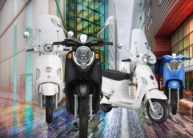 De Novantic en de Novi: twee van de elektrische scooter modellen van emco
