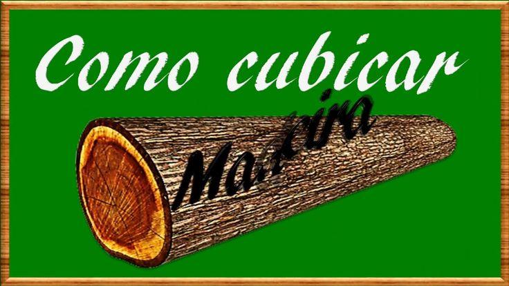 COMO CUBICAR MADEIRA(Volume do Cilindro)