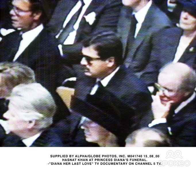 Dr. Hasnat Khan at Diana's funeral. He felt so bad because the injuries Diana had from the accident ( if they were reported correctly ) he could have saved her with his knowledge.