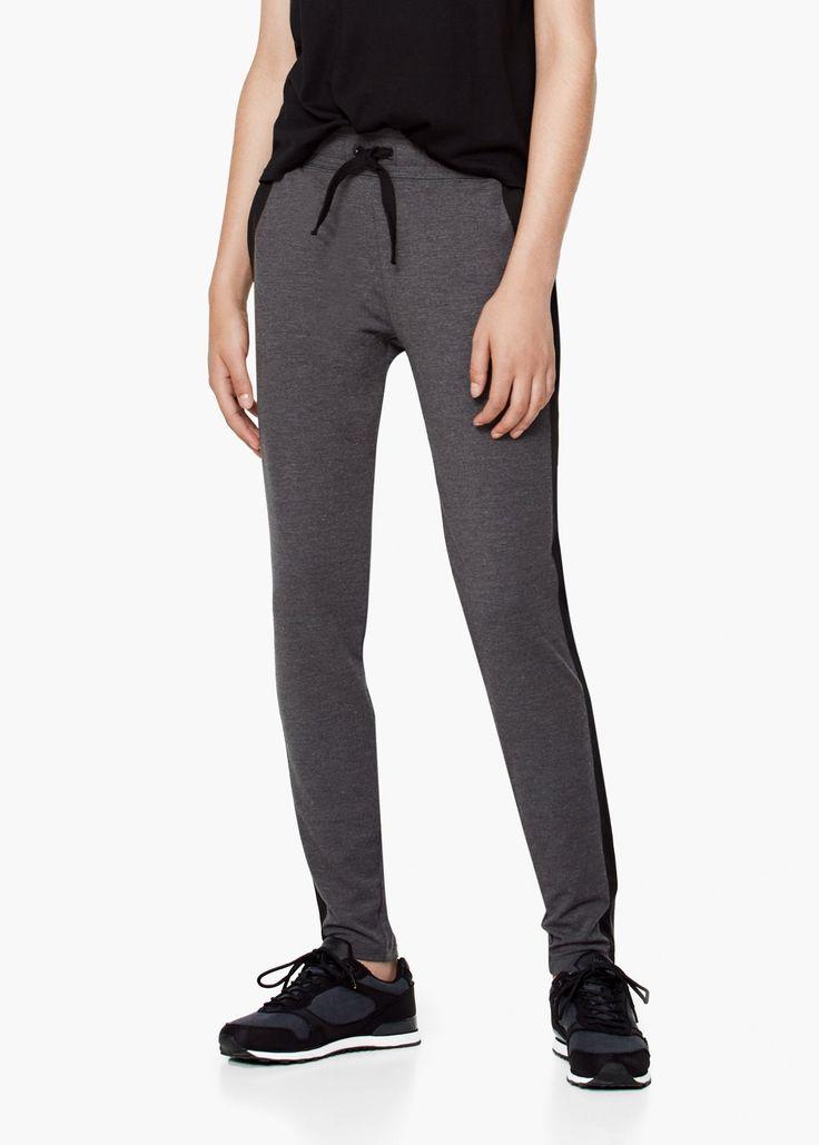 Yoga - pantaloni lungi relaxare - Pantaloni pentru Femei | MANGO