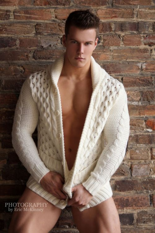 Wool cardigan sweater fetish
