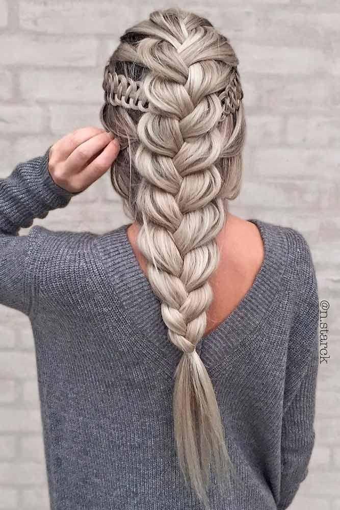 Elsa Hair Elsa Braid Ash Blonde Platinum Blonde Thick Braid Dutch Braid French Braid Tumblr Hair Hairst Hair Styles Long Hair Styles Braided Hairstyles