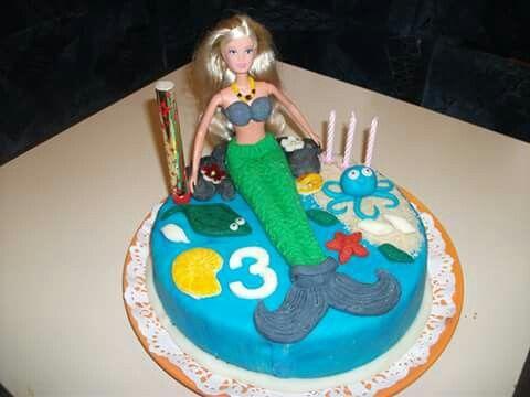 Sellő torta...marcipánnal és csokikrémmel! :)