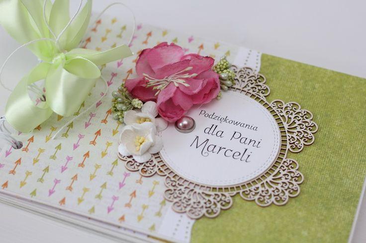 kartka z pudełkiem dzień nauczyciela, podziękowania dla nauczyciela album