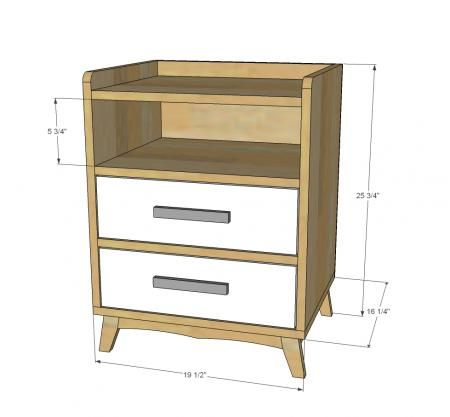 two drawer nightstand plans