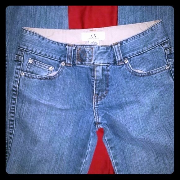 A/X Armani Exchange Boot cut Jeans size 4 Sale Last Call mint conditions Beautiful A/X Jeans Regular 4  Medium wash velcro 100% cotton  Great Jeans Trade for $60 Emporio Armani Jeans Boot Cut