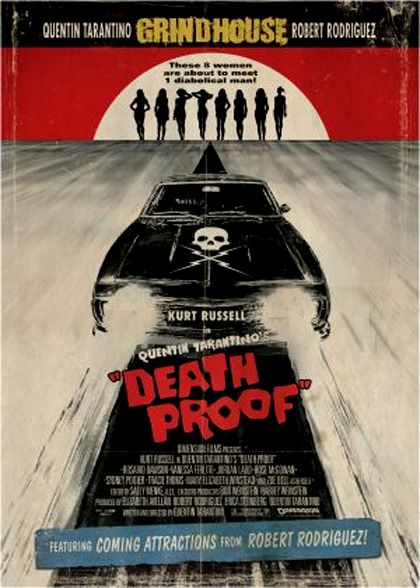 one of best film poster ever death proof, quentin tarantino