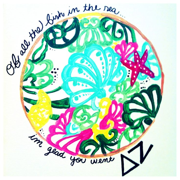 Delta zeta canvas. Lilly pulitzer print. #sorority #recruitment #deltazeta