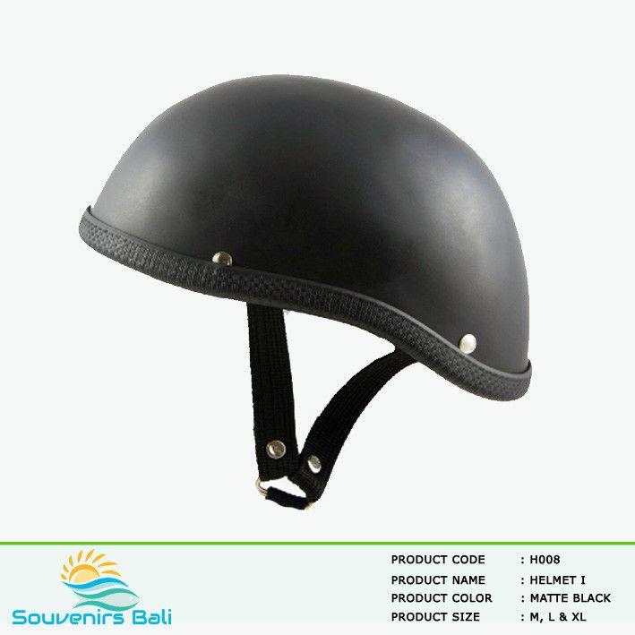 Matte Black Motorcycle Skull Cap Low Profile Novelty Helmet For Harley Chopper #Unbranded #Motorcycle